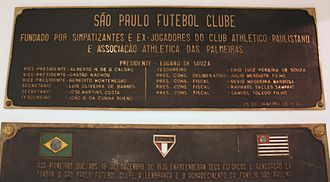 São Paulo FC - The foundations of the club in 1930 and 1935 at the memorial Cássio Luiz dos Santos Werneck.