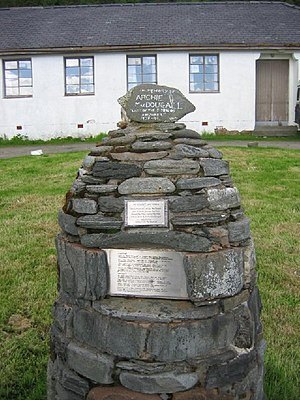 Knoydart - Memorial commemorating the Seven Men at Inverie
