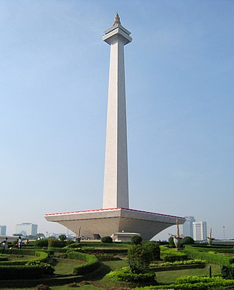 National monument - Monumen Nasional in Jakarta, Indonesia, built to commemorate the Indonesian struggle for independence