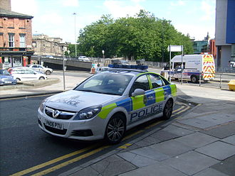 Automatic number-plate recognition - A Merseyside Police car equipped with mobile ANPR.