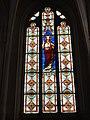Mesbrecourt-Richecourt (Aisne) église Sainte-Benoîte, vitrail 02.JPG