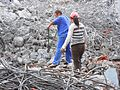 Metal rebar reclamation for recycling at building demolition site - 03.jpg