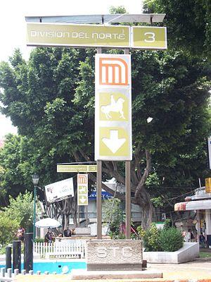 División del Norte - Metro División del Norte with stylized image of Pancho Villa