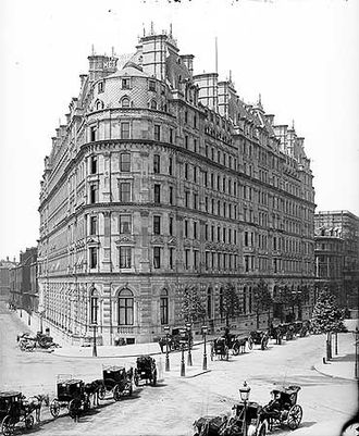 Northumberland Avenue - The Metropole Hotel, Northumberland Avenue in the late 19th century