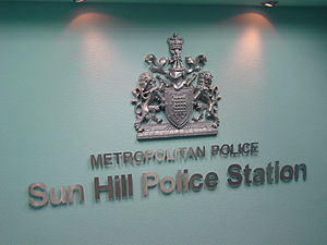 The Bill - Metropolitan Police and station coat of arms from the Sun Hill set
