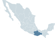 Mexico map, MX-OAX.svg