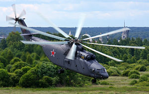 Russian Air Force Mi-26 on lift off