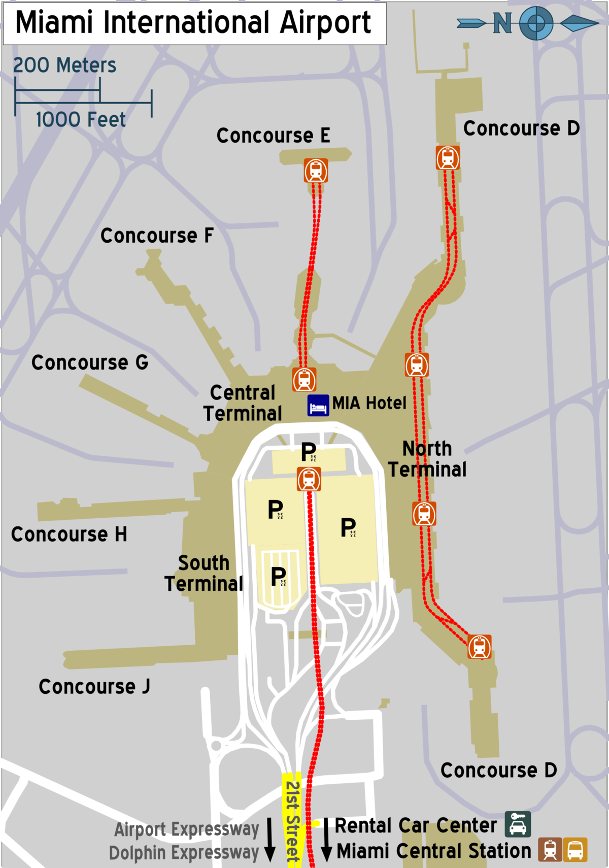Map Of Miami Airport Miami International Airport – Travel guide at Wikivoyage