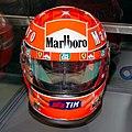 Michael Schumacher 2000 Japanese GP helmet front 2019 Michael Schumacher Private Collection.jpg