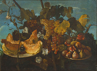 Still Life with Grapes, Figs and Pumpkin