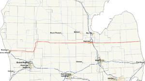 M-46 (Michigan highway) - Image: Michigan 46 map