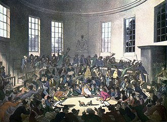 Cockfight - Cockfight in London, c. 1808