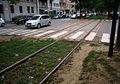 Milano viale Regina Giovanna binari tram.JPG
