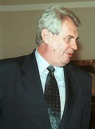 Czech legislative election, 1998 - Image: Milos Zeman