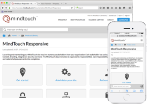 MindTouch Responsive default out of box experience