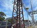 Mineola LIRR Station old electrical pole.jpg