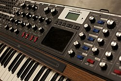 Minimoog Voyager XL, owned by Brian Eno.jpg