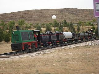 Mine railway industrial railway used in mining
