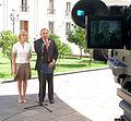 Ministro Secretario General de Gobierno,Andrés Chadwick Piñera junto a la Ministra del Trabajo y Previsión Social, Evelyn Matthei (2).jpg