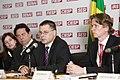 Ministru prezidents uzrunā Latvijas - Brazīlijas biznesa foruma dalībniekus The Latvian Prime Minister addresses participants of the Latvian-Brazilian Business Forum (5928833463).jpg