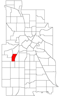 Location of East Isles within the U.S. city of Minneapolis