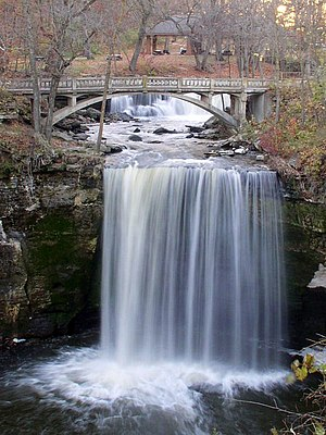 Minneopa State Park - Upper and Lower Minneopa Falls
