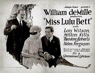 <i>Miss Lulu Bett</i> (film) 1921 film by William C. deMille