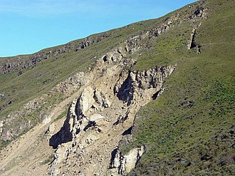 Mission Peak - Landslide on the side of Mission Peak
