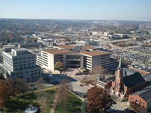 Jefferson City, Missouri - The Harry S Truman office building houses government workers for various state departments and agencies