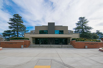 Modesto Junior College - The entrance to the main auditorium of Modesto Junior College's Performing Arts Center