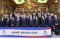 Mohd. Hamid Ansari at the eighth Asia-Europe Meeting (ASEM- 8), in a family photograph with the President of the European Council, Mr. Herman Van Rompuy, the Belgium's King Albert II, the outgoing Belgian Prime Minister.jpg
