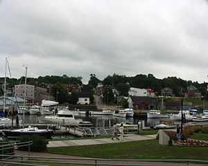 Montague, Prince Edward Island - Montague marina and skyline