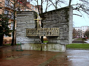 1970 Polish protests - Monument of victims of massacres during Polish 1970 protests in Elbląg.