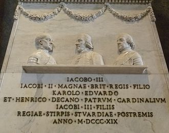 Jacobitism - Detail of the monument in the Vatican