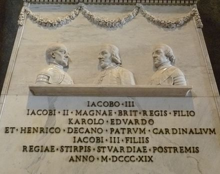 Detail of the monument in the Vatican Monument to the Stuarts detail.JPG