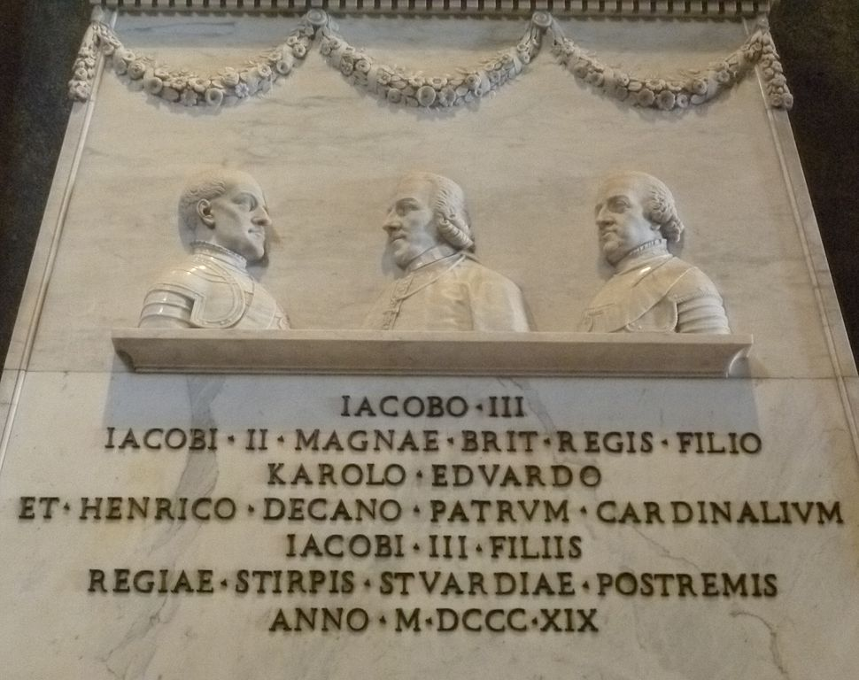 Monument to the Stuarts detail