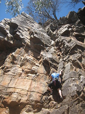 Top rope climbing - Image: Morialta Toproping