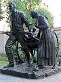 Mormon Pioneer handcart statue.jpg