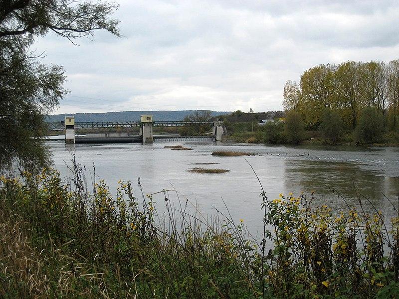 Moselle, barrage d'Illange, France