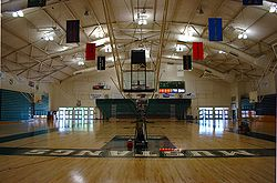 The inside of Mott Gym