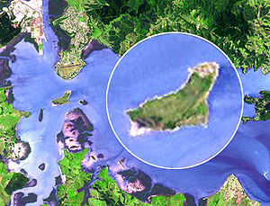 Motu Matakohe - The island from above