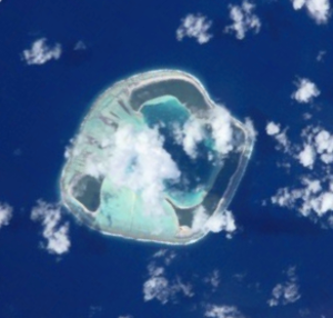 Motu One (Society Islands) - NASA picture of Motu One Atoll