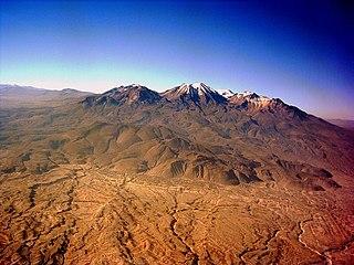 Chachani volcano in Peru
