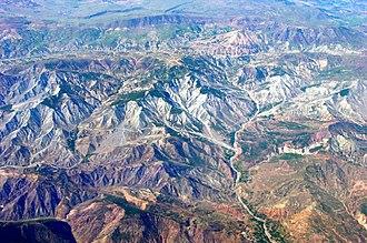 Zilan massacre - Mountains near Van.