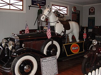 Moxie - A Moxie Horsemobile. This one was built on a LaSalle sedan. It is on display at Clark's Trading Post in Lincoln, New Hampshire.