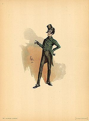 Joseph Clayton Clarke - Image: Mr Jingle 1889 Dickens The Pickwick Papers character by Kyd (Joseph Clayton Clarke)