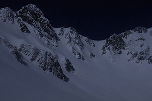 Exposure compensation - Snowy Mountains without exposure compensation