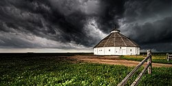 Mullinville Round Barn and Storm.jpg