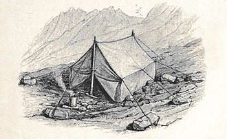Mummery tent - Dent's illustration of a Mummery tent