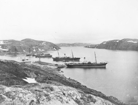 Murmansk harbour Russia 1918 (AWM A05183)